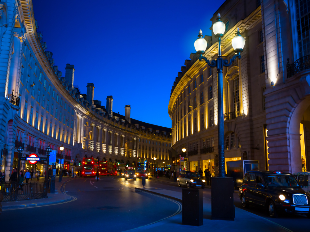 The Piccadilly Circus in London by Night