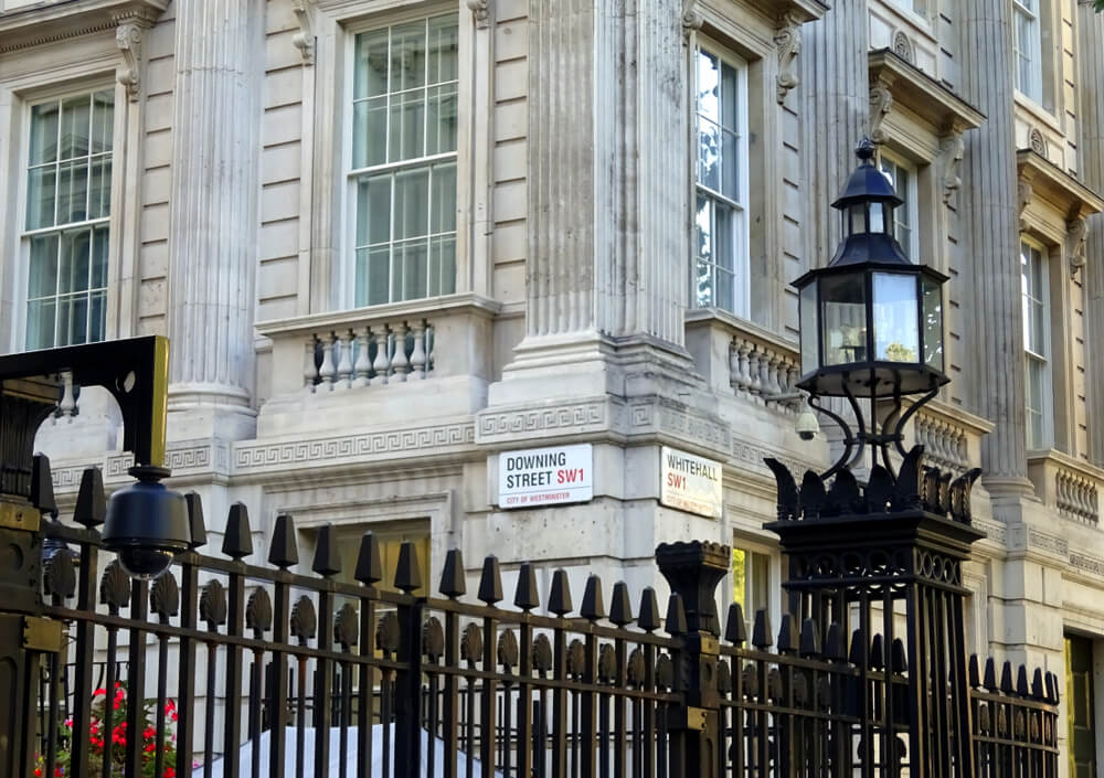 The Number 10 Downing Street. The official public residence of the UK Prime Minister since 1735