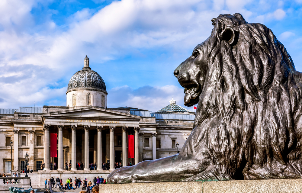 Trafalgur square lion