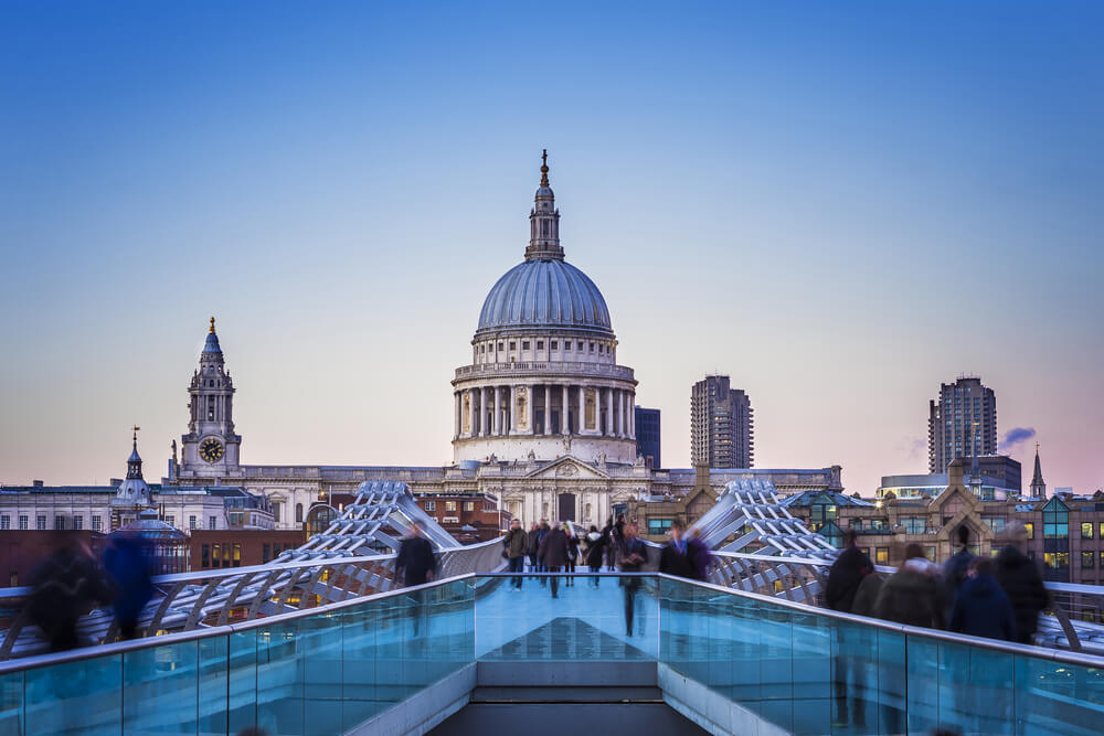 St Paul's Cathedral viewed from the Millennium Bridge